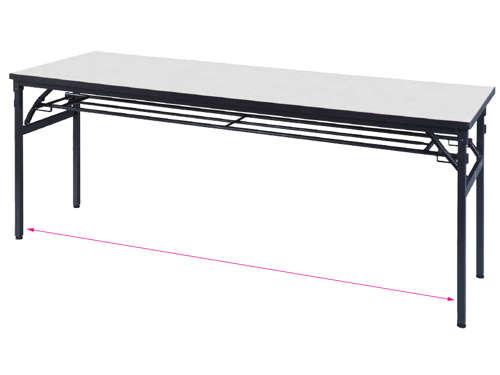 折りたたみテーブルのワイド脚タイプ