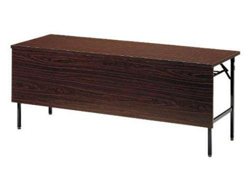 パネル板(幕板)付きの折りたたみテーブル